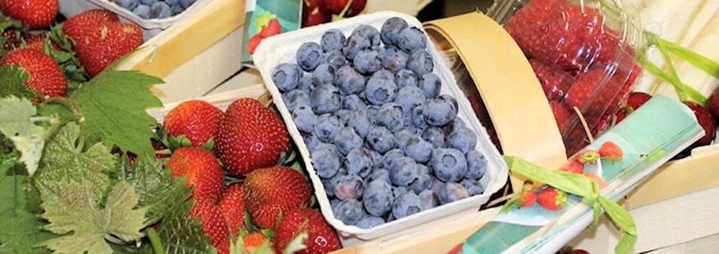 Erdbeeren, Spargel, Himbeeren, Heidelbeeren, Brombeeren